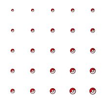 Pokeball Pattern by Geo-