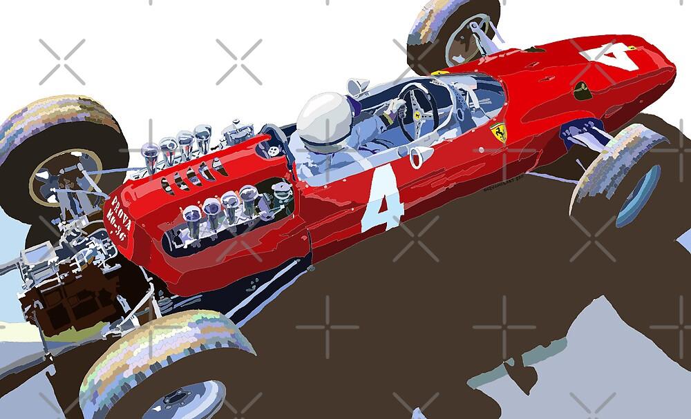 Ferrari 158 F1 1965 Dutch GP Lorenzo Bondini by Yuriy Shevchuk