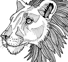 Feather maned lion by HellCharm