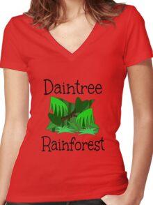 Daintree Rainforest Women's Fitted V-Neck T-Shirt