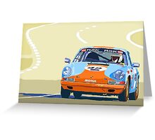 Porsche 911 S  classic Le Man  Greeting Card