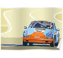 Porsche 911 S  classic Le Man  Poster