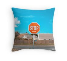 Stop Worrying Throw Pillow