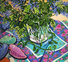 Leaf Still Life by marlene veronique holdsworth