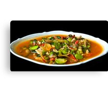 Diced Chicken with Vegetables Canvas Print