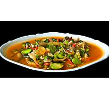 Diced Chicken with Vegetables Photographic Print