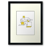 Abstract 1 - Cracked Shower Screen Framed Print