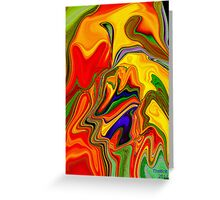 Living color for Easter Greeting Card