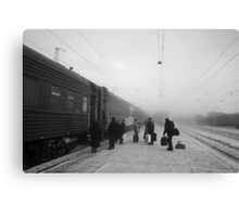 Trans-Siberian winter journey  Canvas Print