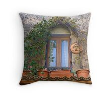 Window in Fumone Italy 1 Throw Pillow