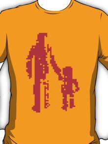 1 bit pixel pedestrians (red) T-Shirt
