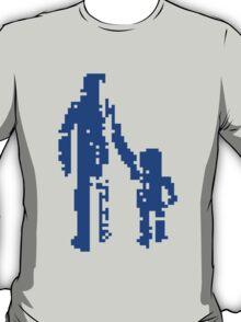 1 bit pixel pedestrians (blue) T-Shirt