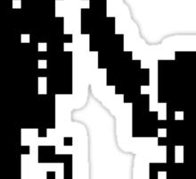1 bit pixel pedestrians (black) Sticker