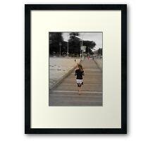 Pier Walking Framed Print