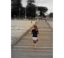 Pier Walking Photographic Print