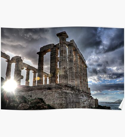 The temple of Poseidon Poster