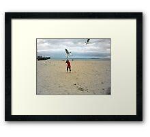 Chasing Seagulls Framed Print