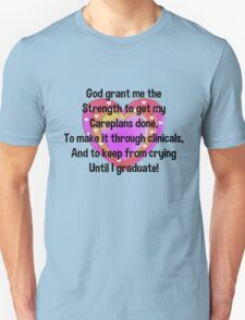 Nursing Student Serenity Prayer Unisex T-Shirt