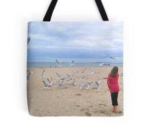 Chasing Gulls Tote Bag