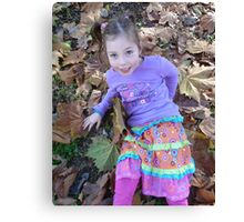 Zoe In The Autumn Canvas Print
