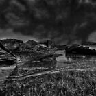 Storm Over The Wrecks by John Hare