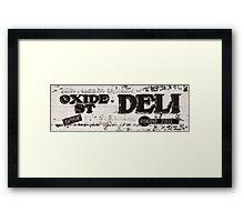 Oxide Street Deli Framed Print