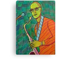 336 - THE SAX PLAYER - DAVE EDWARDS - COLOURED PENCILS - 2011 Canvas Print