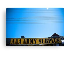 Army Surplus Canvas Print