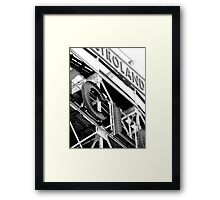 A ride on the Cyclone Framed Print