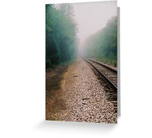 The Lonely Tracks Greeting Card