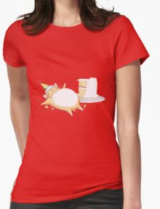 Greedy Hamster Womens Fitted T-Shirt