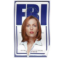 x-files - Scully FBI Poster