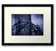 Tangled Up In Blue Framed Print