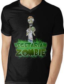 Vegetarian Zombie Mens V-Neck T-Shirt