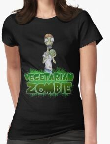 Vegetarian Zombie Womens Fitted T-Shirt