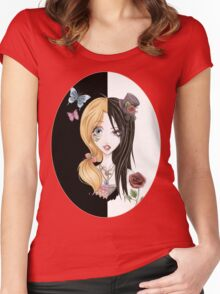 Yin Yang of Japanese Fashion Women's Fitted Scoop T-Shirt