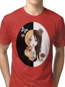 Yin Yang of Japanese Fashion Tri-blend T-Shirt