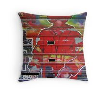 FDNY Mural Throw Pillow