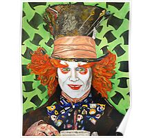 Johnny depp as The Mad Hatter Poster