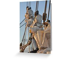 Sails in Waiting Greeting Card