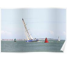 Yacht in Poole Harbour Poster