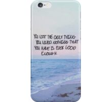 Tonight Alive - Lonely Girl Lyrics iPhone Case/Skin