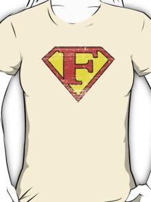 Vintage F Letter T-Shirt