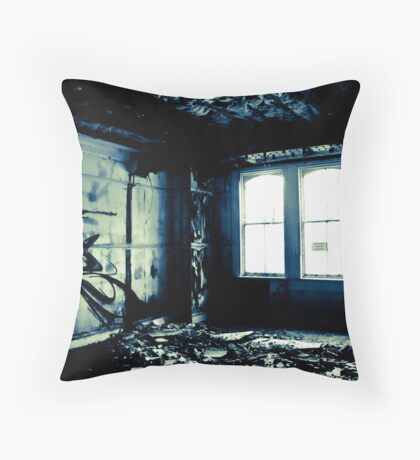 Watching the decay Throw Pillow