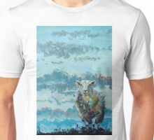 Colorful sheep painting - Out of the Stormy Sky Unisex T-Shirt