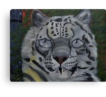 Did you ever see a Snow Leopard BLINK Canvas Print