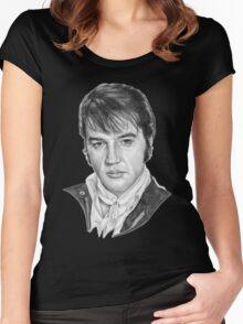 Elvis Presley Women's Fitted Scoop T-Shirt