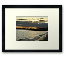 Sunset At The Beach- Beach  Framed Print