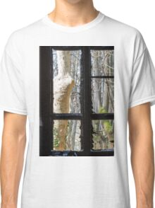Old window with broken glass Classic T-Shirt