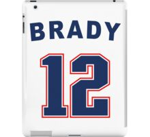 Tom Brady 12 iPad Case/Skin